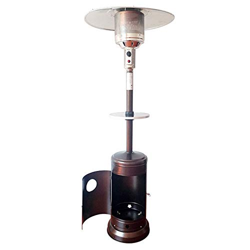 ZFHNY Propane Patio Heater Outdoor Patio Heater with Wheel Tall Standing Adjustable Height for Home Camping Parties Garden,CSA Approved(Golden)