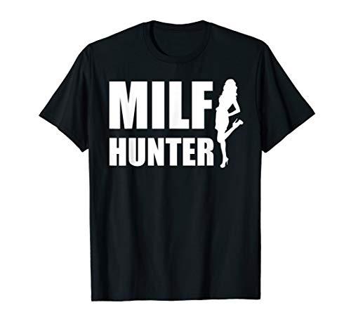 Herren MILF Hunter Single Männer Sprüche Geschenk T-Shirt