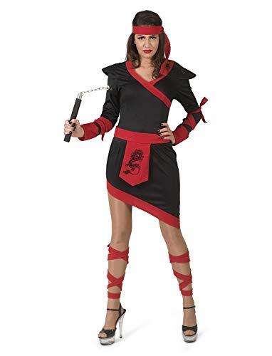 Ninja Damenkostüm Kämpferin Japan Spion Karneval Fasching Kostüm Damen