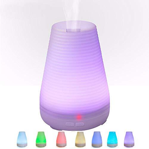 VGFTP Humidificadores, Difusor de aceite esencial Spray de Aroma esencial de susurro silencioso, Difusor de aromaterapia Mist Maker Difusores caseros 100 ML