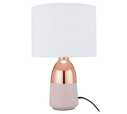 Argos Home Duno Touch Tischlampe Klassisch Rosa & Kupfer