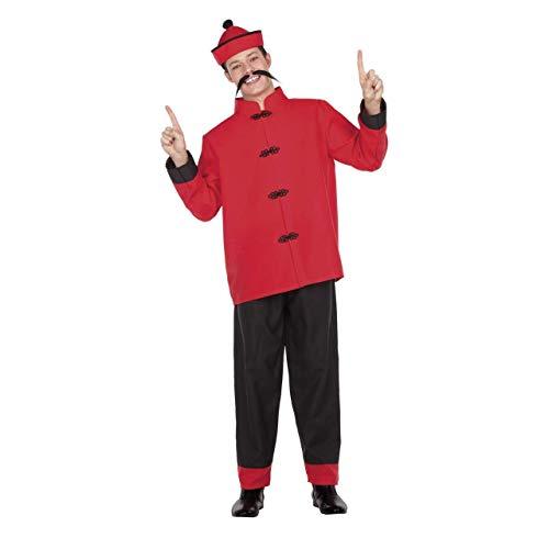 My Other Me Disfraz de Chino Rojo y Negro para Hombre