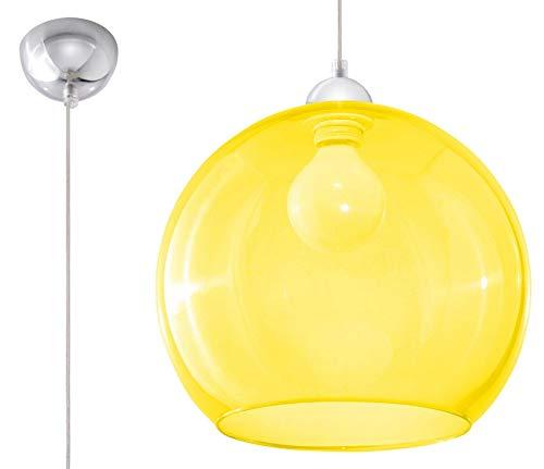 Sollux Lighting BALL Pendelleuchte, Glas, Gelb, Chrome