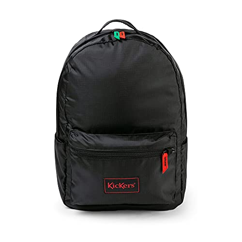 Kickers Ripstop Backpack, Black, One Size 20 litres, Nylon Mixte, Noir