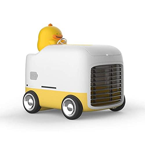 ZHOUJ Ventilador portátil para aire acondicionado, pequeño ventilador evaporativo, ventilador de refrigeración por aire, silencioso, USB recargable, mini ventilador de escritorio de refrigeración