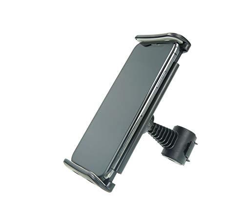 MANOS LIBRES - Telefoonhouder Scooter | Universeel | Zwart | Windscherm en Spiegel | Apple iPhone, Samsung, Huawei | Piaggio, Vespa, Zip, MP3, Kymco, Sym, Peugeot | Type L