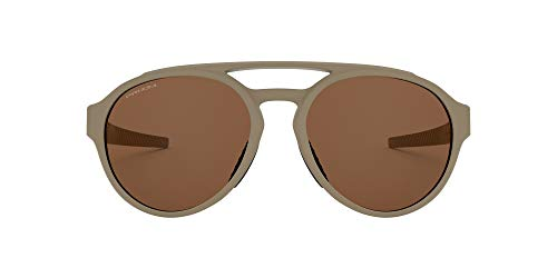 Oakley Men's OO9421 Forager Round Sunglasses, Matte Terrain Tan/Prizm Tungsten, 58 mm
