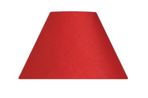 Oaks Lighting Coolie Abat-jour en coton Rouge 30,5 cm