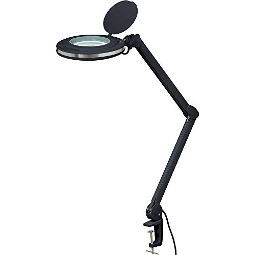 Toolcraft 2249716 LED-Lupenleuchte Schwarz 5 127mm mit Klemmhalterung 3D 1.75x