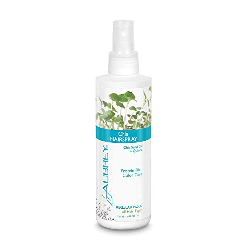 Chia Hairspray Regular Hold Aubrey Organics 8 oz Liquid