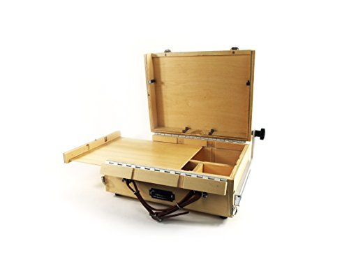 Guerrilla Painter 9x12 Guerrilla Box Plein Air Painting Pochade Box with In Lid Easel for 9x12 in panels or canvas and Storage