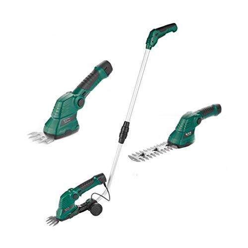 M-YN Cortasetos eléctrico 7.2V 2 en 1 podadora de césped arbustos Cutter...