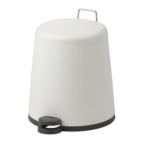 IKEA SNÄPP Treteimer in weiß; (5l)