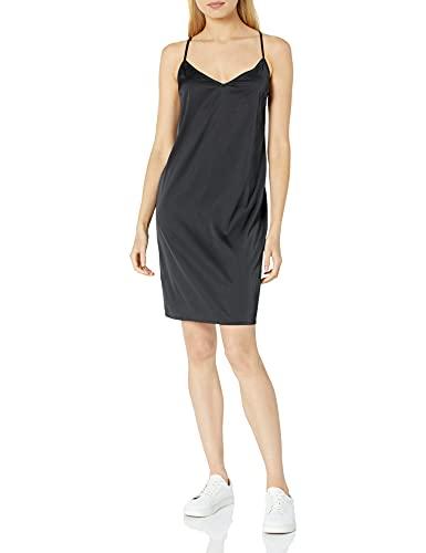 The Drop Women's Darcy Loose Tie-Back Silky Stretch Mini Slip Dress