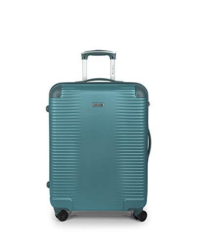 Gabol - Balance | Maletas de Viaje Medianas Rigidas de 47 x 66 x 25 cm con Capacidad para 55 L de Color Turquesa