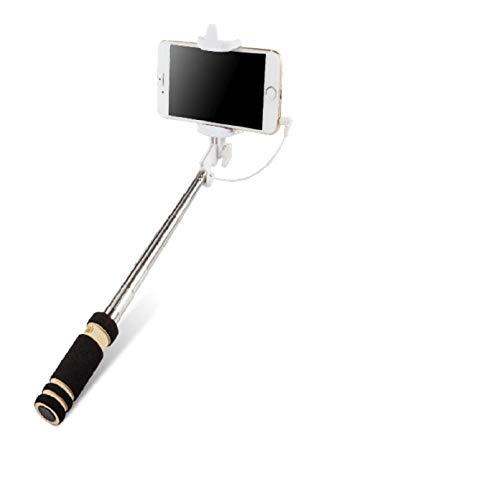 K-S-Trade Kompatibel Mit Samsung Galaxy Note 3 Neo 3G Selfie Stick Selfiestick Kabelgeb&en Monopod Mit Kabel Stab Stange Selfportrait Handheldstick Kompatibel Mit Samsung Galaxy Note 3 Neo 3G
