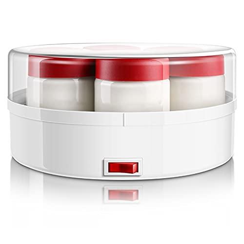 SNJDX Máquina multifunción para el hogar, Completamente automática, de Vidrio, máquina de Yogur en Polvo, máquina de Yogur en Polvo con 7 Tazas de Vidrio