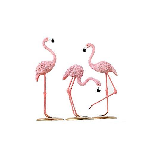 Pink Flamingo Skulptur Tischdekoration Flamingo Standing Kunst-ausgangsdekoration Ornament Flamingo Dekor Figur Tischdekoration Geschenke Für Freunde Komfortable Versorgung