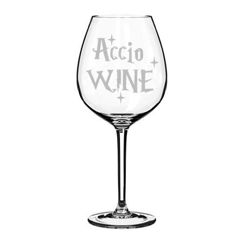 Weinglaskelch, Lasergravur, Accio-Wein, 325 ml