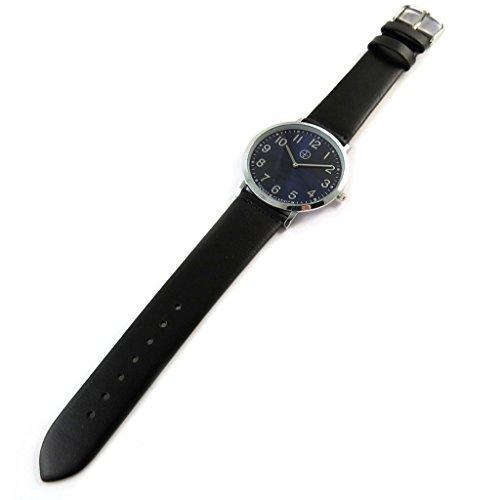 Trendy [N9495] - Designer-Uhr 'Trendy' Silber schwarz (schmal).