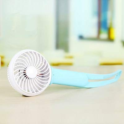 Gold Happy Mini USB Hand Fan Battery Ventilator Recargable Cooling Portable Fan Led Light Air Conditioner Cooler Adjustable USB Fan Blower