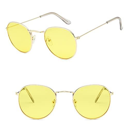 ShZyywrl Gafas De Sol Gafas De Sol Clásicas De Aleación con Montura Pequeña para Mujer, Lentes Reflectantes, Gafas De Sol, Montura De Metal