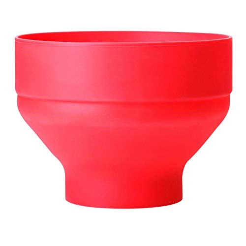 Maril Microwave Popcorn Popper Silicone Popcorn Maker Collapsible Bowl with Lid for Home Hot Air Microwave Popcorn Makers BPA Free Red best service