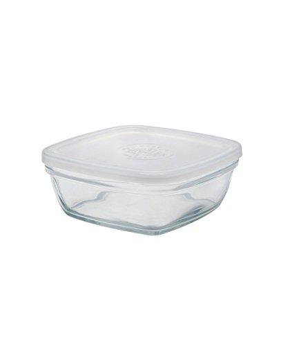 DURALEX-Bols empilables 20 cm avec Couvercle en Verre dépoli Transparent