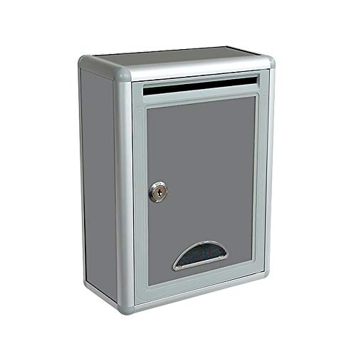 Buzón De Sugerencias, Buzón Colgante De Pared Buzón De Quejas De Aleación De Aluminio Buzón De Donación Con Cerradura