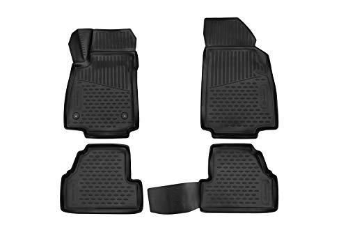 Element EXP.ELEMENT3D02221210k Passgenaue Premium Antirutsch Gummi Fußmatten - OPEL Mokka, SUV - Jahr: 18-20, schwarz