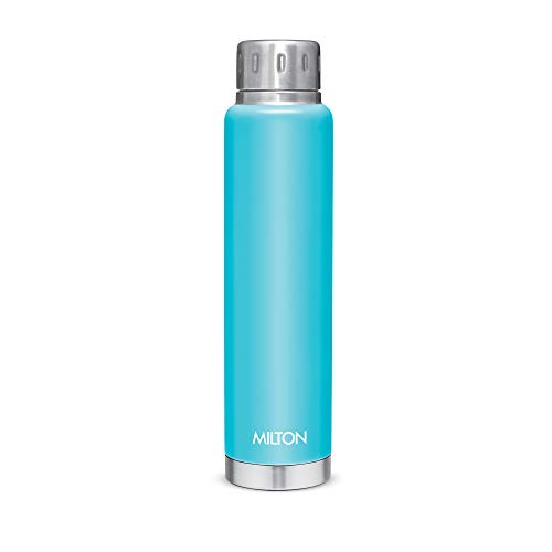 Milton Elfin 500 Thermosteel 24 Hours Hot and Cold Water Bottle, 500 ml, Light Blue