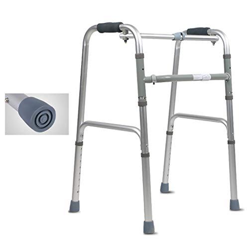 FKDEWALKER Aluminium Folding Lightweight Walking Frame,Walking Mobility Aid,Walker with Non-Slip mat