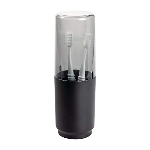 iDesign Austin Covered Holder, Holds Regular and Electric Toothbrushes