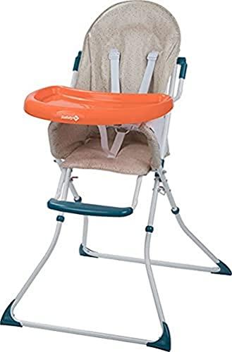Safety 1st - Safety 1st kanji trona para bebé plegable, compacta y ajustable, trona bebé con cojín por niños 6 meses - 3 años, color happy day2, unisex