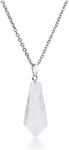 Top Plaza Natural Chakra Healing Crystal Stone Pendant Necklace Reiki Charged Clear Quartz Pointed product image