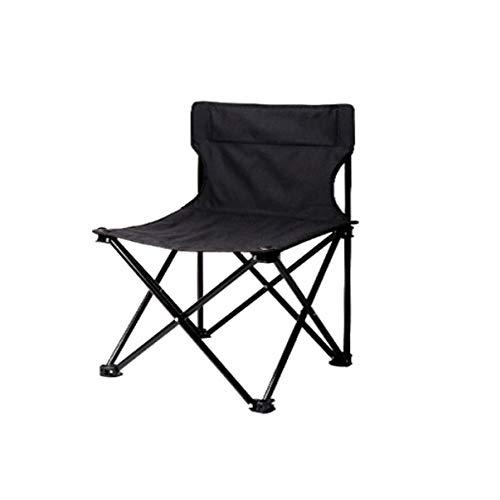 JXDD Garden Outdoor Folding Chair Portable Backrest Stool Fishing Chair Leisure Chair Beach Chair Art Sketching Chair 10-24 (Color : Black, Size : M)
