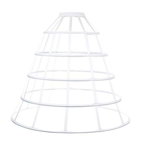 LONGBLE Reifrock Petticoat rok jurk drijven kooi, 5 ringen trok onderrok onderhemd kroonoline voor trouwjurken baljurken avondjurken bruidsjurken onderrok wit