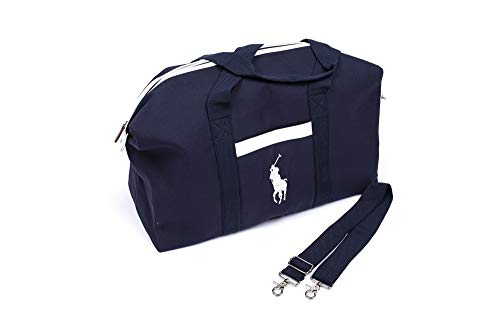 Polo Ralph Lauren Men's Blue and White Duffle Bag