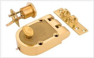 MUL-T-LOCK JP1 Polished Chrome MUL-T-LOCK Jimmy Proof Rim Lock