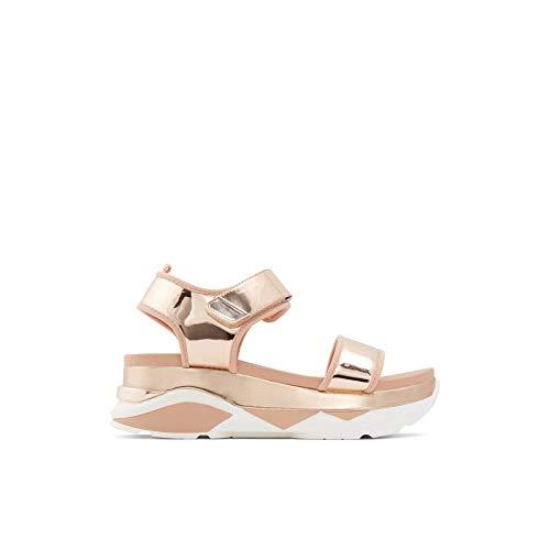 ALDO Women's Zarella Flat Sandal, Metallic Multi, 11