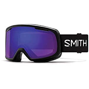 Smith Optics Riot Women's Snow Goggles – Black/Chromapop Everyday Violet Mirror/One Size