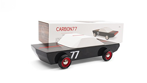 Candylab Toys Wooden Cars, Carbon77 Model, Modern Vintage Racer Collectible, Kids Toy Cars, Solid Beech Wood