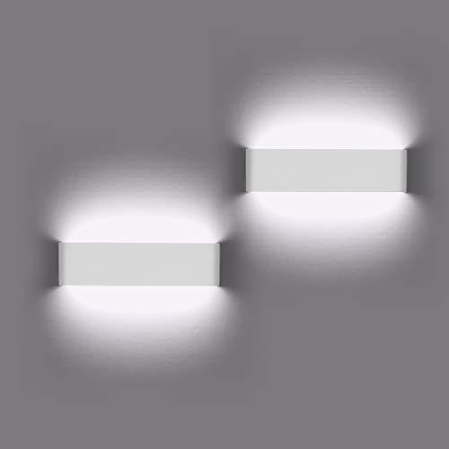 2 Pezzi Lampada da Parete 12W Bianco Freddo LED...