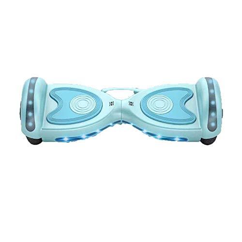 JLCCKJJS Scooter de Equilibrio de 9 Pulgadas para Adultos con Dos Ruedas Scooter de Equilibrio eléctrico Bluetooth-Hada Azul