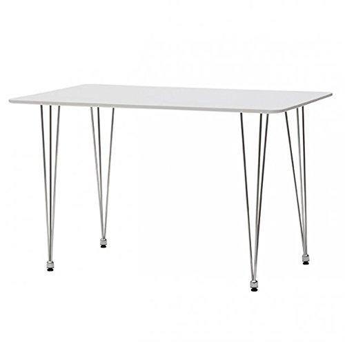 Bois & Design Table rectangulaire Design Moderne Plan en MDF et Pieds en Acier