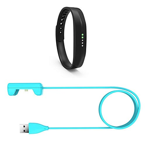USB Ladekabel/Ladeadapter kompatibel zu Fitbit Flex 2 - Blue