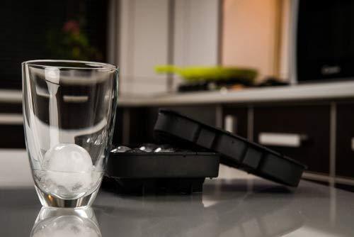 Touch Life Fast-Release-4Kugeln Flexible Soft Silikon Ice Ball Maker Form Rund Kugeln Tablett schwarz 6 balls & 6 squares