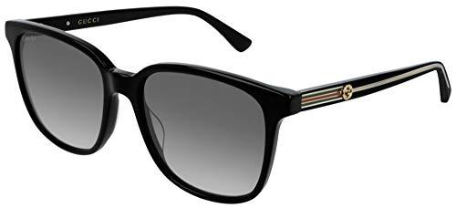Gucci GG0376S-001 gafas de sol, NEGRO, 54.0 para Mujer