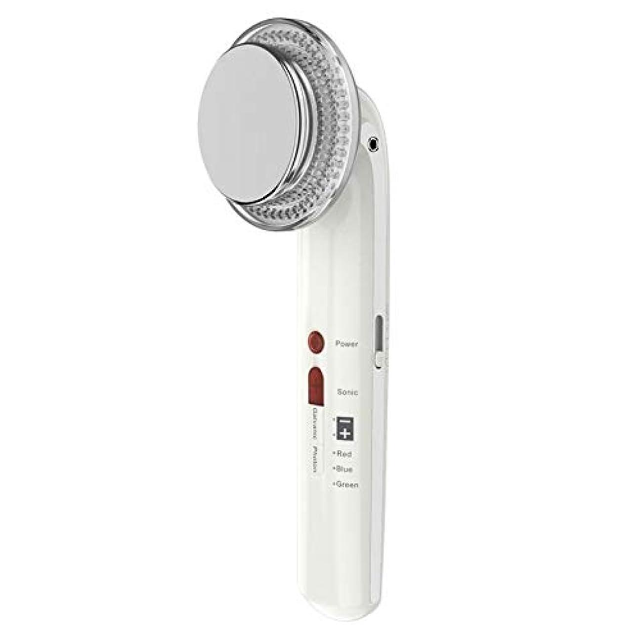貫通する奨励マエストロ7で1振動美容機器ems超音波ボディフェイシャル痩身ツールled光子療法フェイスマッサージャー用ボディシェーピングフェイシャルスキンケア (Color : White)