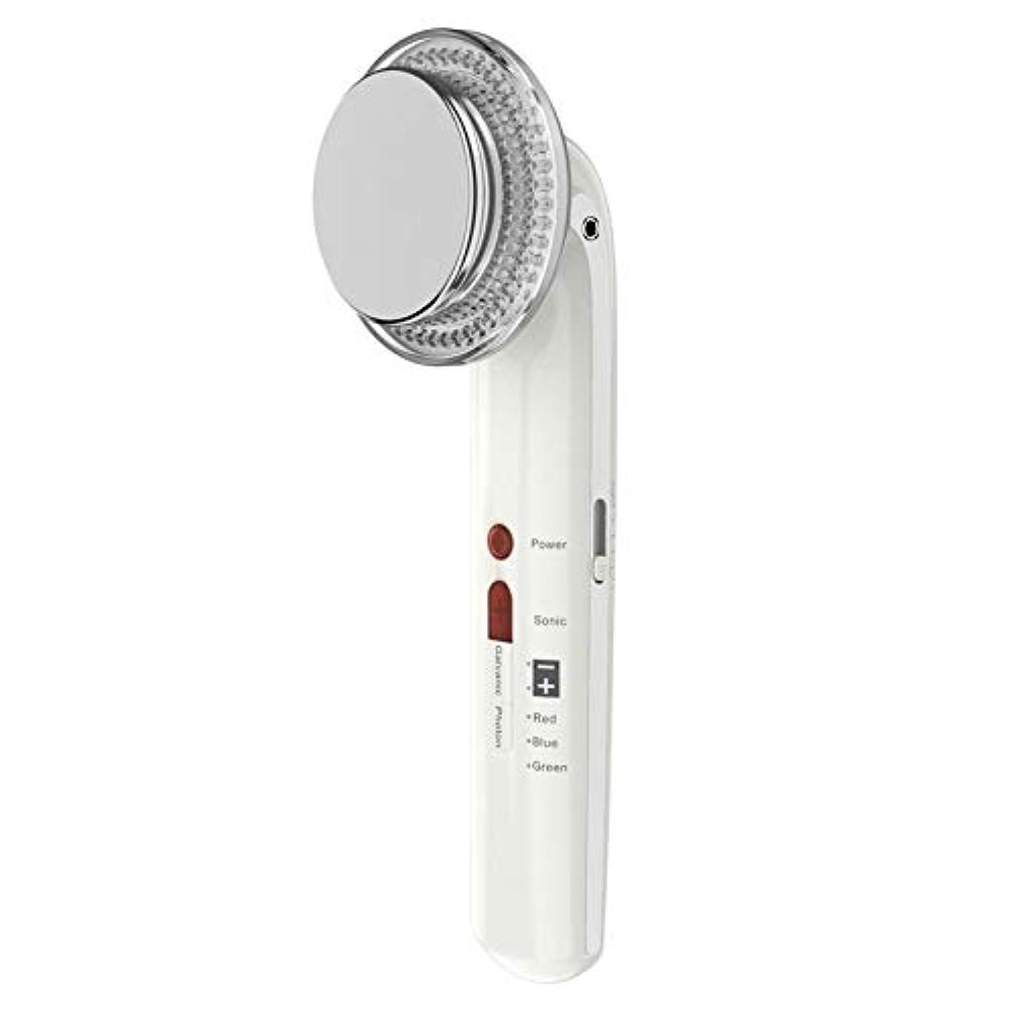 カバレッジ懲らしめ脅迫7で1振動美容機器ems超音波ボディフェイシャル痩身ツールled光子療法フェイスマッサージャー用ボディシェーピングフェイシャルスキンケア (Color : White)